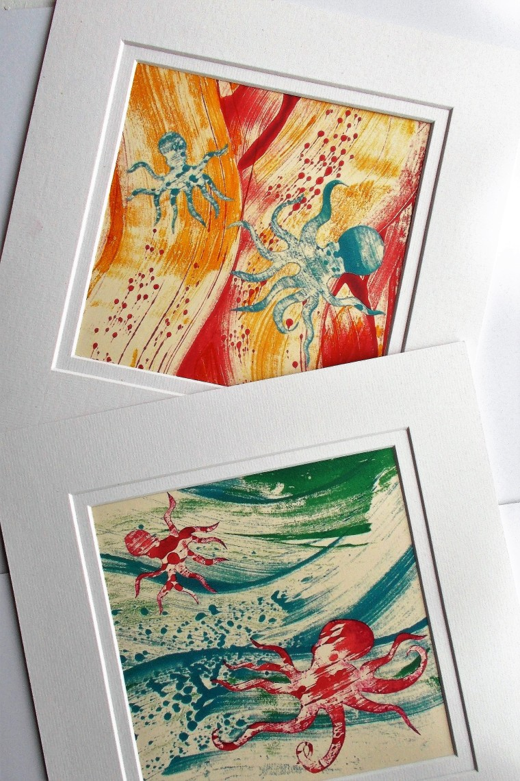 Mounted prints (2)